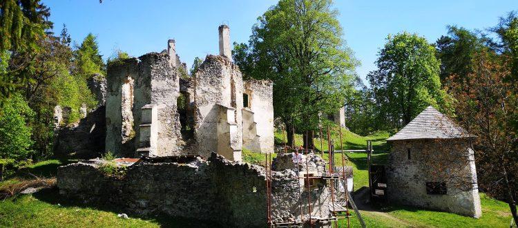 Kastiel zrucaniny hradu Sklabina