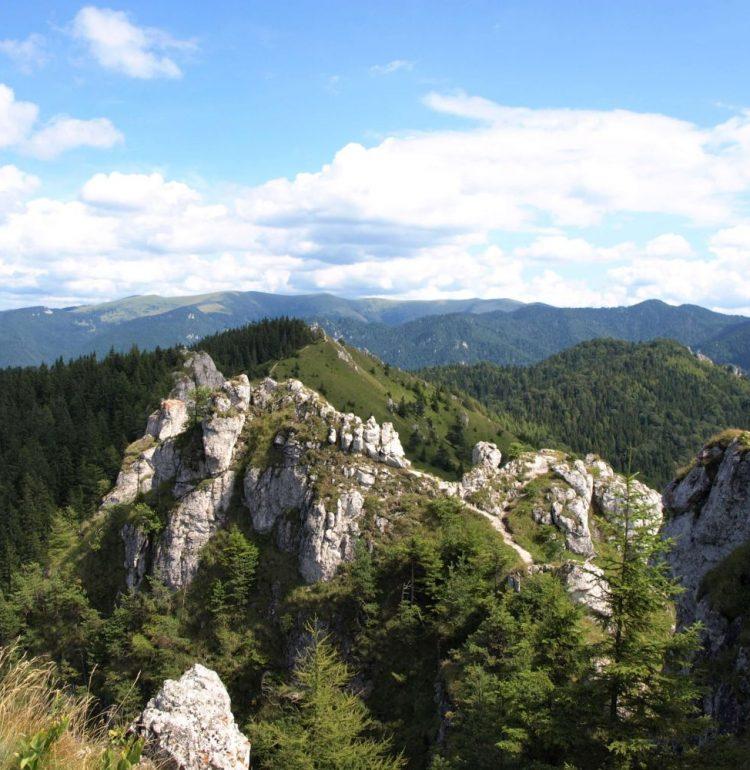 Výhľad na východnú časť Veľkej Fatry