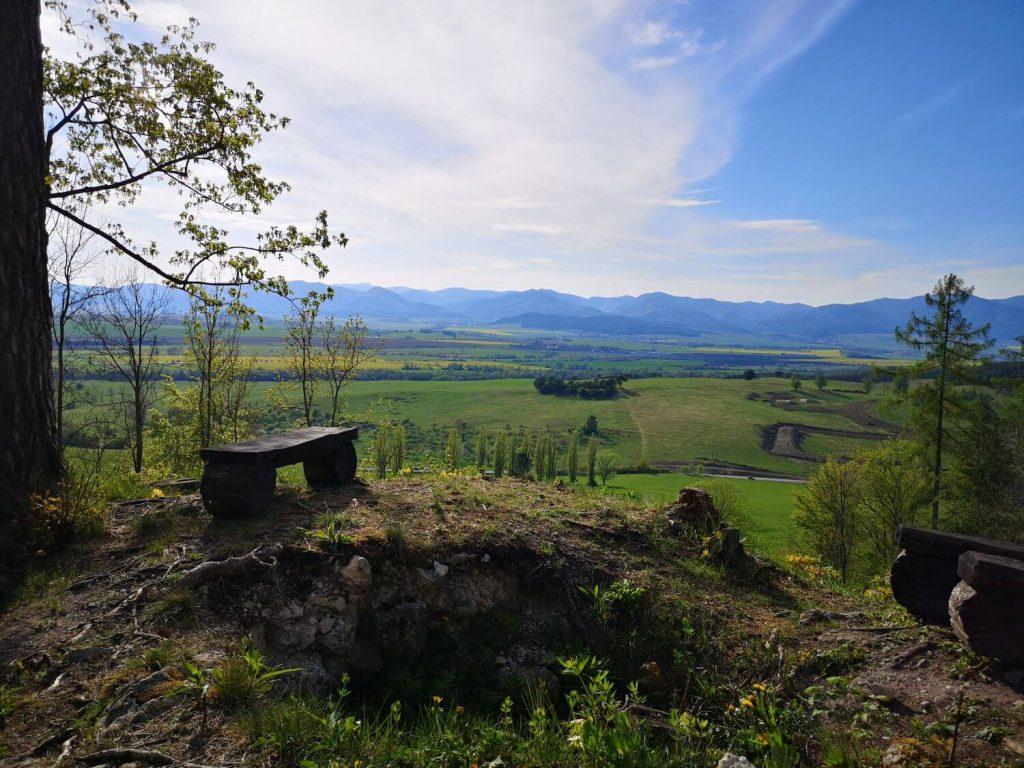 Vyhlad na Turiec z hradu Blatnica