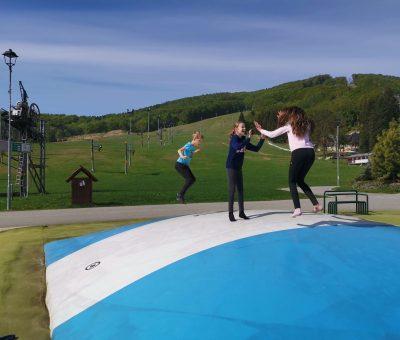 Nafukovacia trampolina vo Valcianskej doline