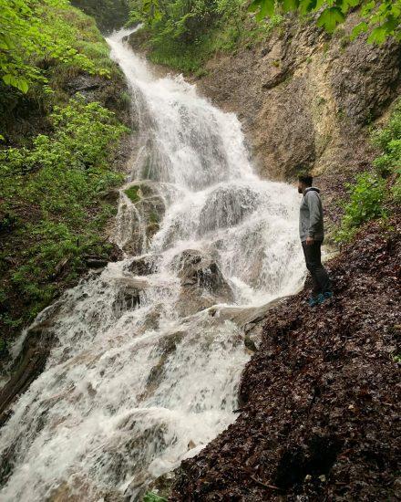 Kľacký vodopád v jarnom období