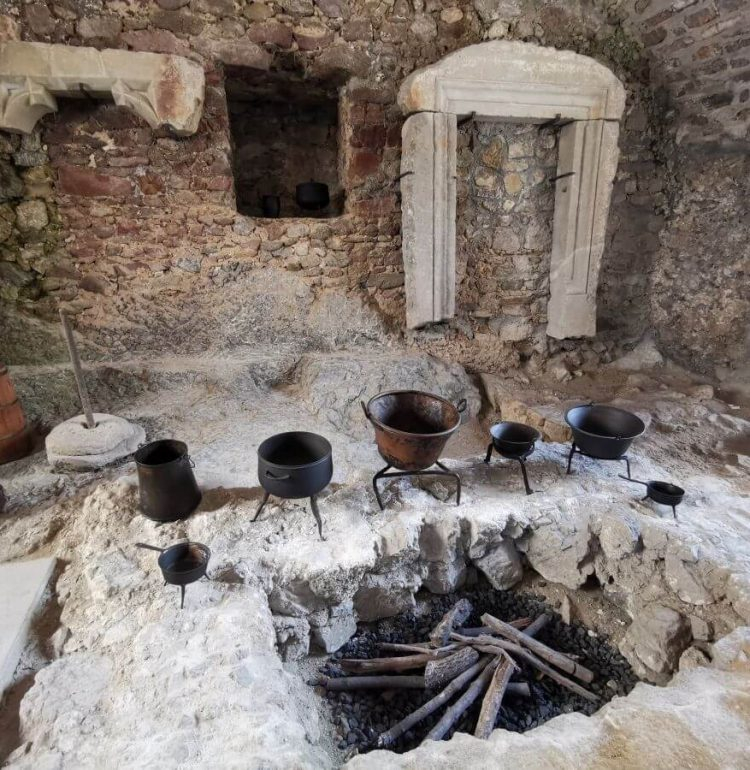 Kuchyňa na hrade Strečno