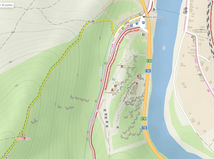 Mapa rozhľadne Špicák